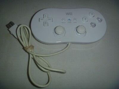 Official OEM Genuine Nintendo Brand Wii & Wii U Classic Controller White RVL-005