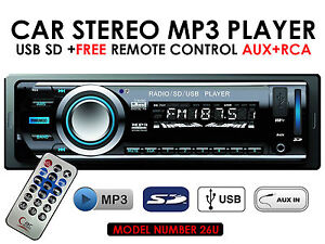 CAR STEREO WITH MP3 PLAYER / USB / SD CARD / AUX / RADIO / FM BRAND NEW BOXED
