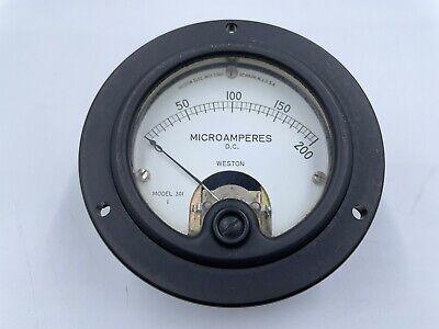 Weston Model 301 Dc Microamperes Panel Meter 0-200 Mics