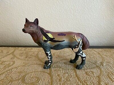 Pacific Giftware Standing Wolf with Eagle