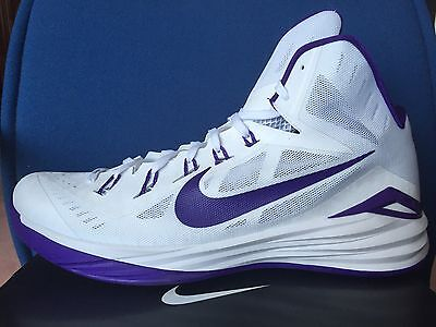 - NIKE HYPERDUNK 2014 TB Men 18 BASKETBALL Shoe WHITE Purple UW Huskies 685777-150
