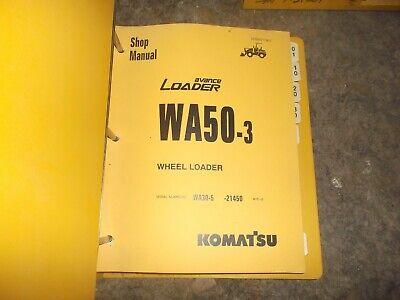 Komatsu Wa50-3 Avance Front End Wheel Loader Tractor Shop Service Repair Manual