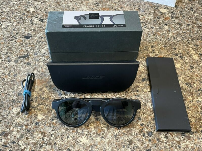 Bose Frames Rondo Audio Sunglasses Black  USED ONCE Mint One Size