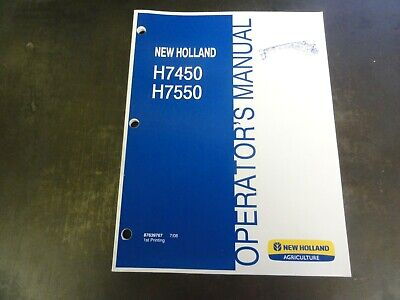 New Holland H7450 H7550 Discbine Mower Conditioner Operators Manual 87639767