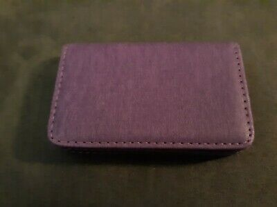 New Purple Leather Magnetic Close Business Cardcredit Card Holder Rfid Blocking