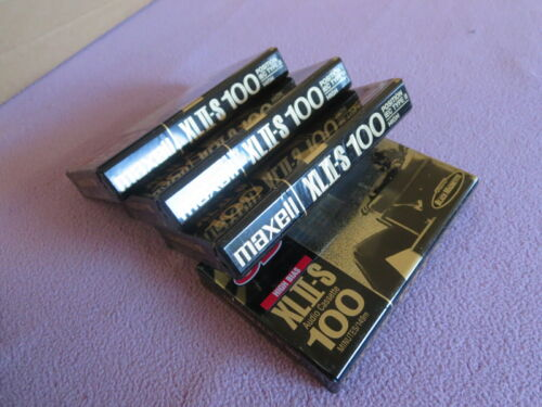 Maxell XLII-S 100 Four(4) cass. Brand New SEALED++XLNT++