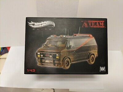 2013 Hot Wheels Elite 1:43 A-Team Van Muddy / Mud Version