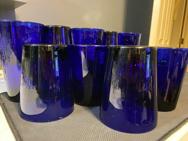 blue glasses drinking Set glass