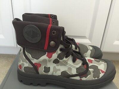 Palladium Men's Baggy Snow Boots 02353005,Grey/Red Camo New In Box