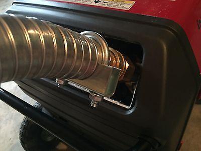 Honda Eu3000is Inverter Generator 1-12 Qd Steel Exhaust Extension 2 Foot