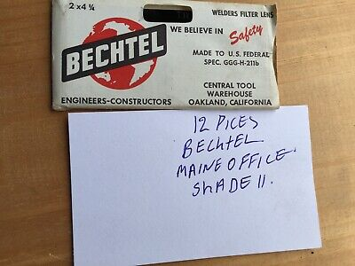 Bechtel 2 X 4 12 Welder Filter Lens Shade T11 Lot Of 12