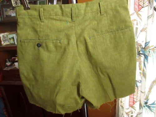 "27W 27"" TRUE VTG 60s LIME GREEN FLECK IVY LEAGUE Boys Girls Shorts"