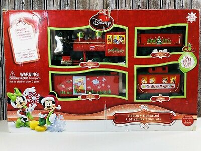 Disney Battery Operated Christmas 20 piece Train Set