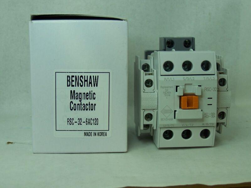 BENSHAW RSC-32-6AC120 CONTACTOR NEW RSC32