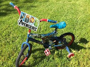Avengers bike with training wheels