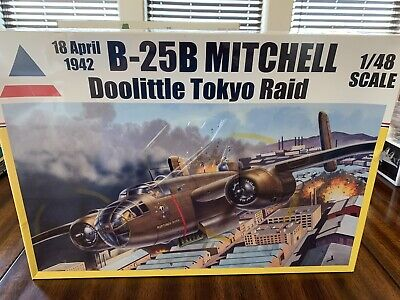 *Factory Sealed* Accurate Miniatures B-25B Mitchell Doolittle Tokyo Raid 1/48