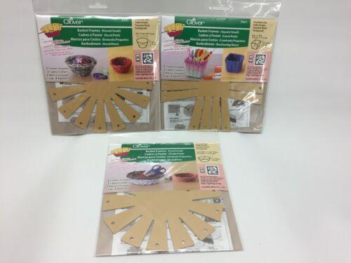 NEW - Clover Basket Frames - Lot of 3 - 2 Frames Per Package - #8420, 8421, 8422