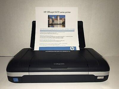 Hp Officejet H470 Mobile Mobile Inkjet Printer