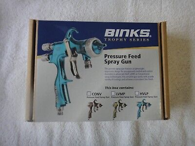 Nib Binks Trophy Press 1.2x16rs Pressure Feed Spray Gun 2465-12cn-16s0