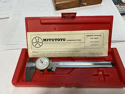 Mitutoyo No. 505-626 .001 6 Precision Dial Caliper With Hard Case