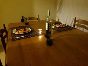 OLD STYLE.. dining I table.. Old country light stain 5 seater