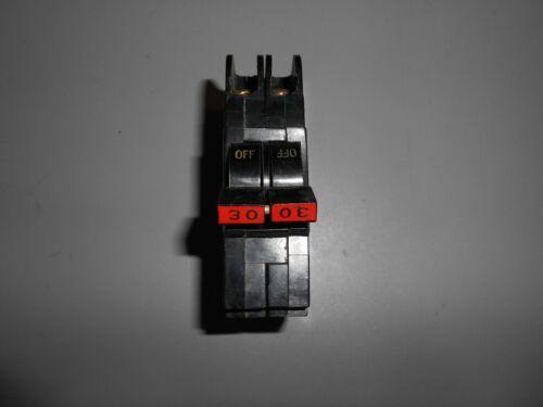 Federal Pacific Stab Lok 2 pole 30 amp mini breaker