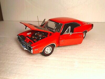 1970 Dodge Charger R/T in Orange, Crown Premiums Die Cast, NAPA Model 1:24 Scale