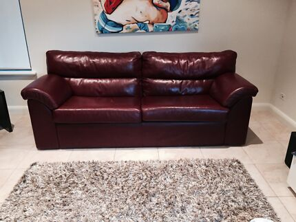 Leather 3 seater sofas x 2 Floreat Cambridge Area Preview