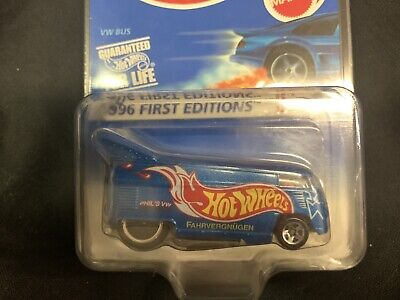 1996 Hot Wheels VW Drag Bus #372 First Editions #BH32 MOC W/protecto