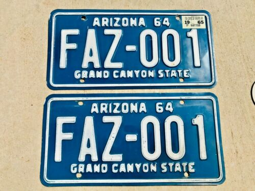 1964 Arizona License Plates Original Condition DMV Clear