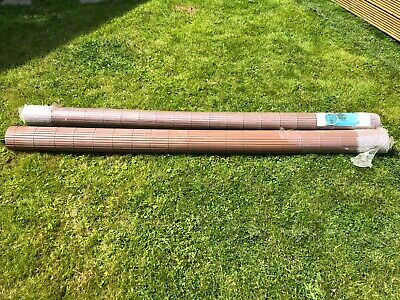 PVC Garden Screening Roll Fence Privacy Border Panel Bamboo Effect Fencing Cover