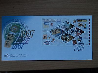 Malaysia 1997 9 Sep FDC Malpex '97 Stamp Exhibition MS, Bureau postmark