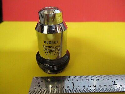 Wild Heerbrugg Swiss Objective 40x Lens Optics Microscope Part 506023 Ft-6-164