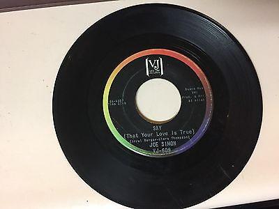 SOUL 45 RPM RECORD - JOE SIMON - VEE JAY 609
