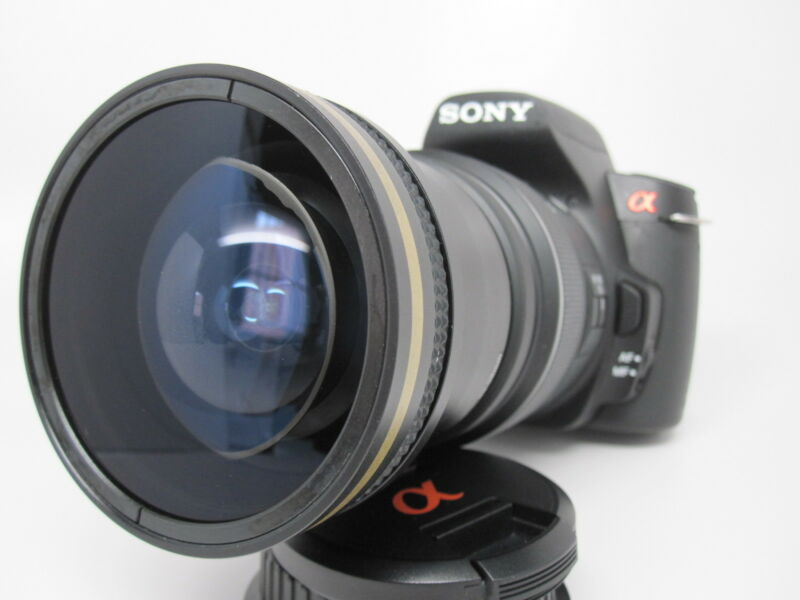 New Super Ultra Wide Angle Macro Fisheye Lens For Sony Alpha Digital Camera SLT