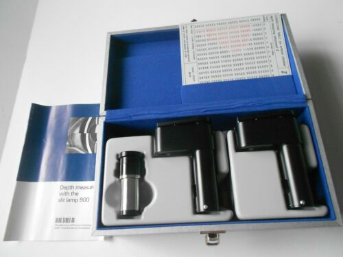 Haag-Streit Depth Measuring Devices 1 and 2 - II for Haag Streit Slit lamp. Boxe