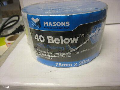 Mason 40 Below All Temperature At Flashing Tape 75 Mm X 20m Appx 3 X 75 Ft