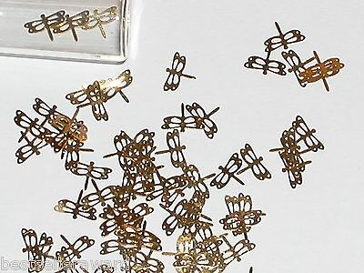12pc Tiny metal Butterfly Dragonfly bendable rare charm fairy glitter findings *