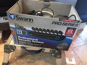Swann pro series security camera setup with monitors