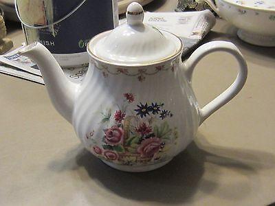 Vintage Arthur Wood & Son Bone China Teapot Staffordshire England