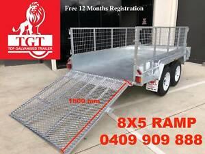 8x5 Trailer Tandem Galvanised Ramp 600mm Mesh Cage Box 2000kgs ATM Ashwood Monash Area Preview