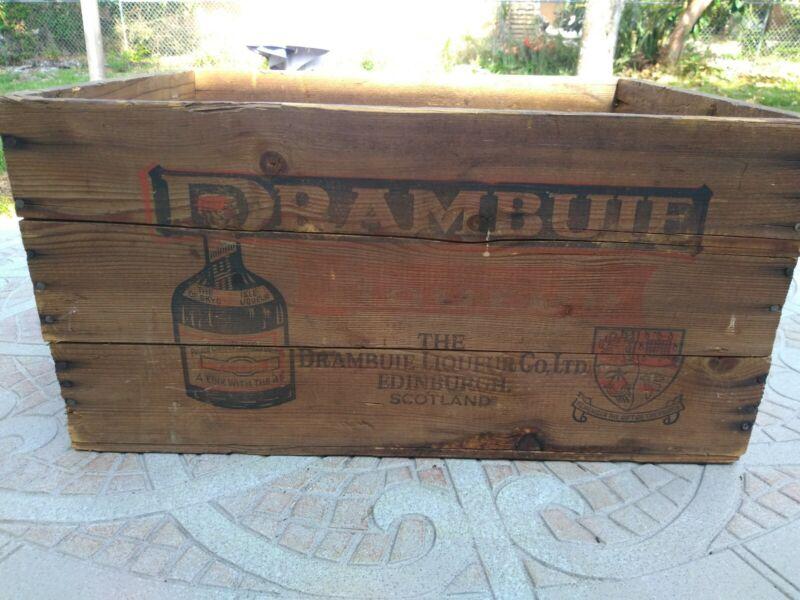 "Drambuie Old Shipping Box Case Crate 14x18x9"" Dated 1969 Tayler NY,NY"