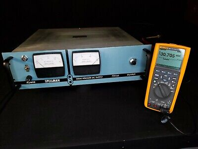 Spellman 30kv Dual Polarity Adjustable High Voltage Power Supply 2ma - Tested