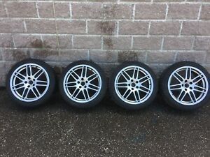 "18"" Audi A4 rims with winter tires p235/40r18"