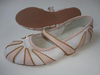 NEU Jette Joop Ballerina Schuhe Gr.37-37,5 rosa-weiß zu Jacke Kleid Hose (Weißes Kleid, Rosa Schuhe)