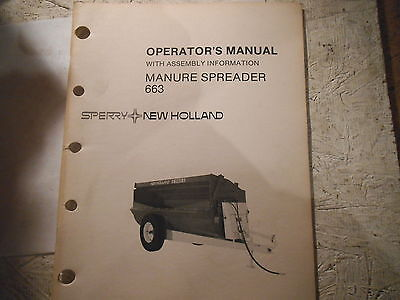 New Holland 663 Manure Spreader Operators Manual