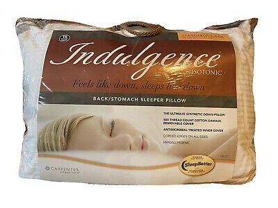 Indulgence Standard/Queen Side Back Stomach Sleeper Pillow by Isotonic