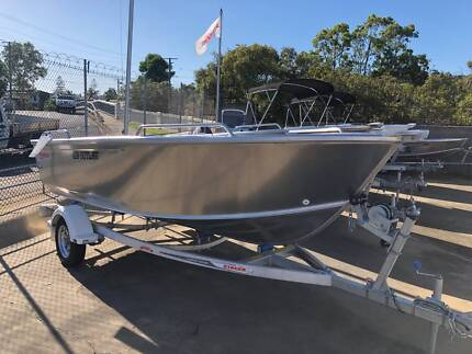 STACER 429 OUTLAW TILLER (UNPAINTED) WITH YAMAHA 40HP 4-STROKE