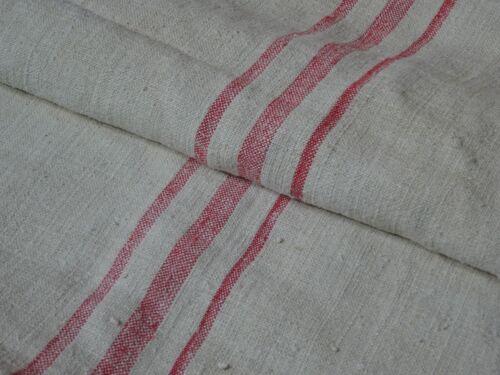Antique European Feed Sack GRAIN SACK Red Stripe # 8175