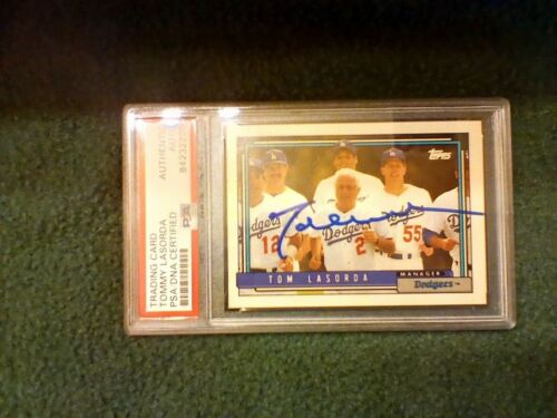 Tommy Lasorda PSA Authenticated Hand Signed 1992 Topps Card Dodgers HOF